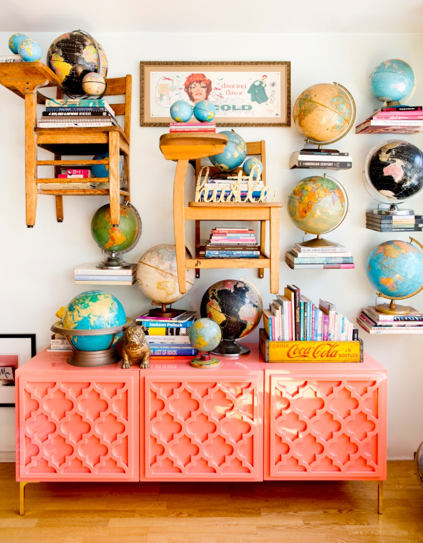 new-york-city-eclectic-apartment-globes-interior-photography